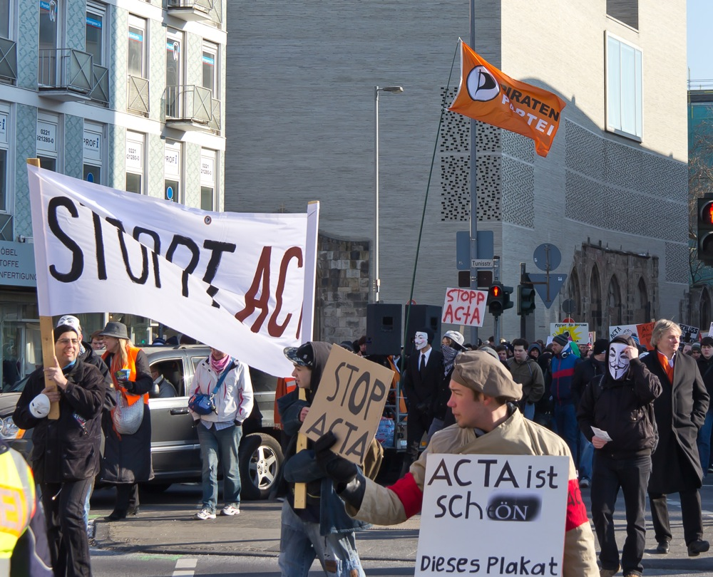 Anti ACTA demo Cologne 2012