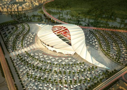 Stadion Al Khor, Katar, proj. Albert Speer Jr., fot: www.as-p.de
