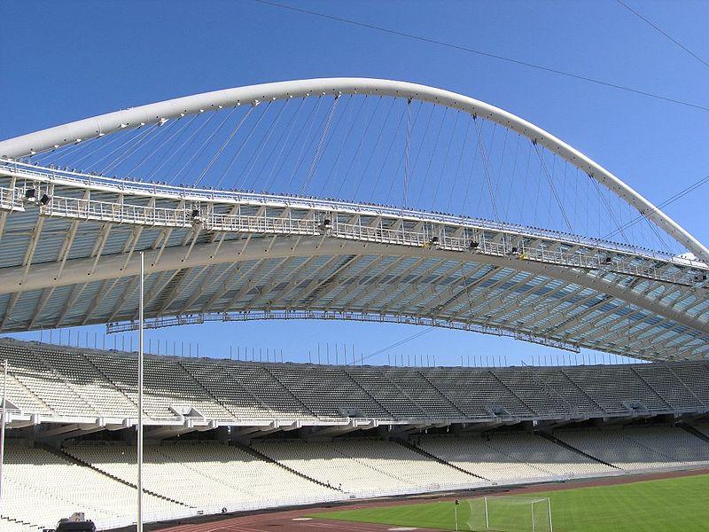Stadion Olimpijski w Atenach, proj. Santiago Calatrava, fot. Kanakari, Wikimedia Commons / CC-BY-SA-3.0