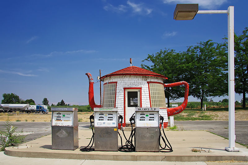 Teapot Dome Service Station, Zillah, Washington, fot. Steven Pavlov, Wikimedia Commons / CC-BY-SA-3.0