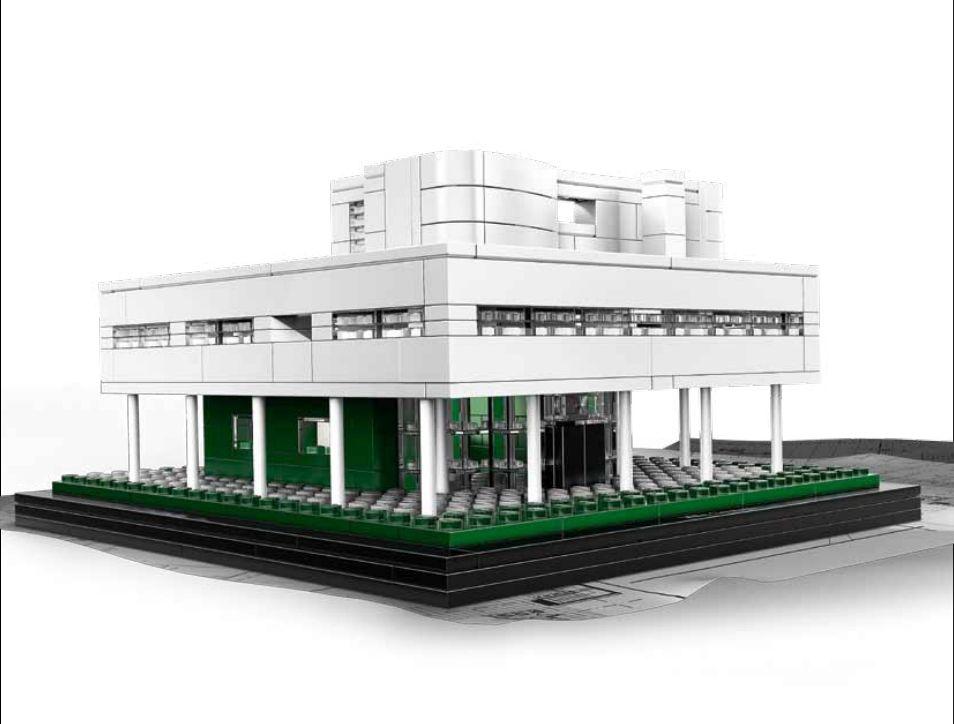 Villa Savoye w wersji LEGO, źródło: http://architecture.lego.com