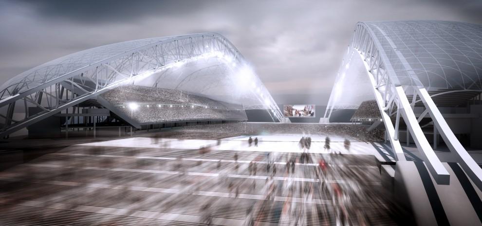 Stadion Olimpijski w Soczi, proj. Populous, źródło: http://populous.com