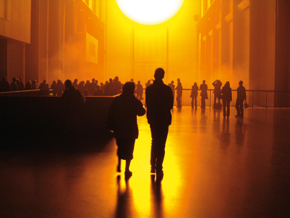 Olafur Eliasson, The weather project, 2003, Turbine Hall, Tate Modern, Londyn, źródło: www.olafureliasson.net