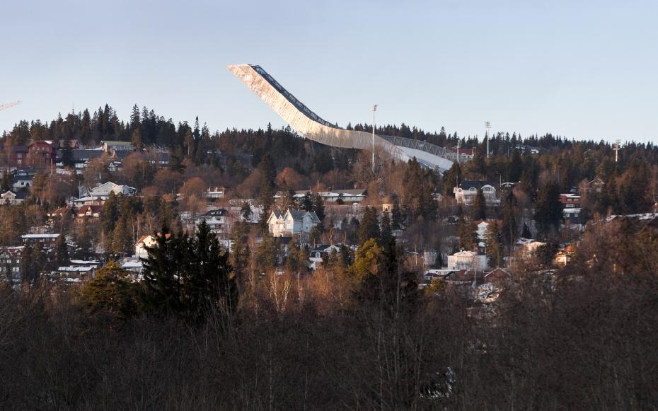 Skocznia narciarska Holmenkollen, Oslo, proj. JDS Architects, źródło: http://jdsa.eu