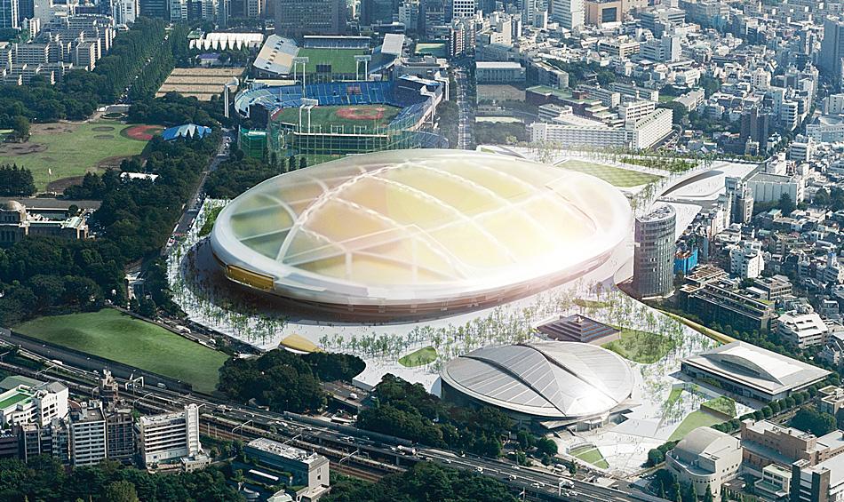 Konkurs na Stadion Narodowy w Tokio, proj. UNStudio, foto: JapanSport Council, www.jpnsport.com