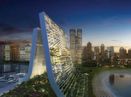 Marina Beach Towers, proj. Oppenheim Architecture + Design, źródło: www.oppenoffice.com