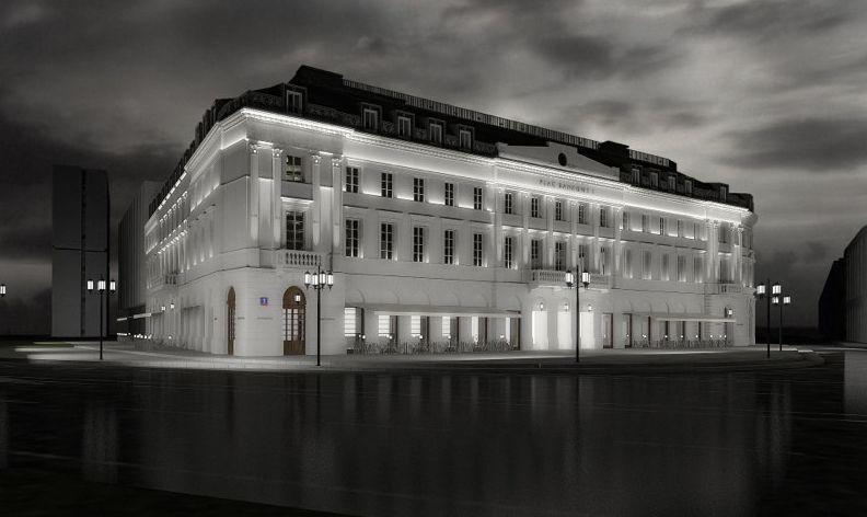Plac Bankowy 1 (dawny Hotel Saski) po remoncie, proj. MAAS Projekt, źródło: www.maas.com.pl
