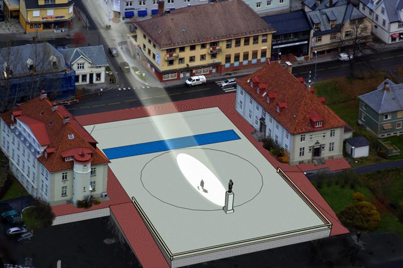 Tak światło słoneczne dostanie się zimą do Rjukan w Norwegii, źródło: www.visitrjukan.com