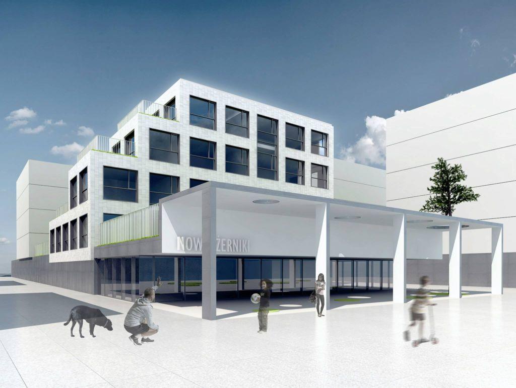 Jedna z propozycji zabudowy w osiedlu Nowe Żerniki, źródło: www.facebook.com/NoweZerniki