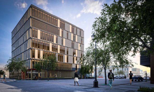 """Wood Innovation Design Center"", proj. Michael Green Architecture, Prince George, British Columbia, Kanada, źródło: http://mg-architecture.ca"