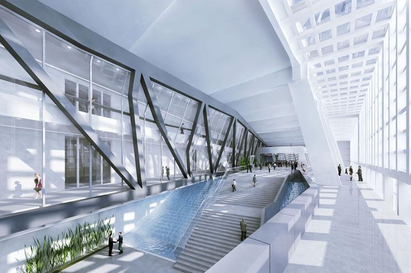 Siedziba główna Europejskiego Banku Centralnego, Frankfurt nad Menem, proj. Coop Himmelb(l)au; źródło: www.ecb.europa.eu