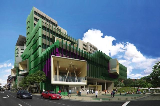 Queensland Children's Hospital, Brisbane, Australia, proj. Lyons i Conrad Gargett Architecture, źródło: www.conradgargett.com.au