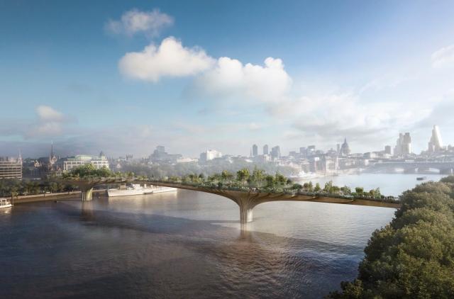 Garden Bridge, Londyn, proj. Heatherwick, źródło: www.heatherwick.com
