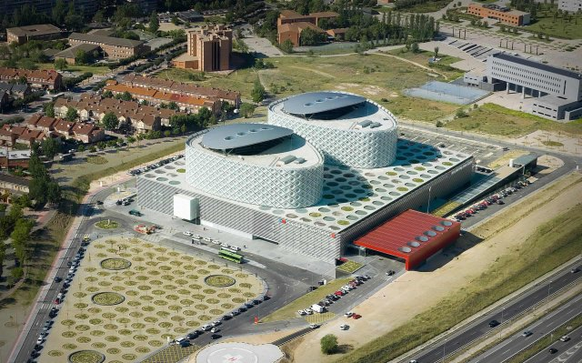 Rey Juan Carlos Hospital, Madryt, Hiszpania, proj. Rafael de La-Hoz, źródło: www.rafaeldelahoz.com