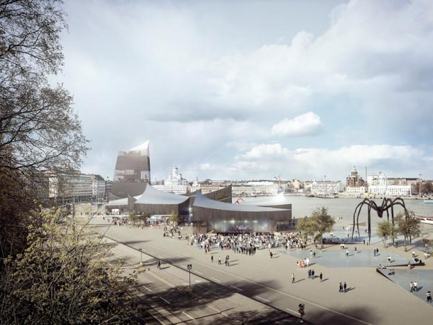 Jeden z sześciu projektów, zakwalifikowanych do finału konkursu na projekt Muzeum Guggeheima w Helsinkach; źródło: http://designguggenheimhelsinki.org