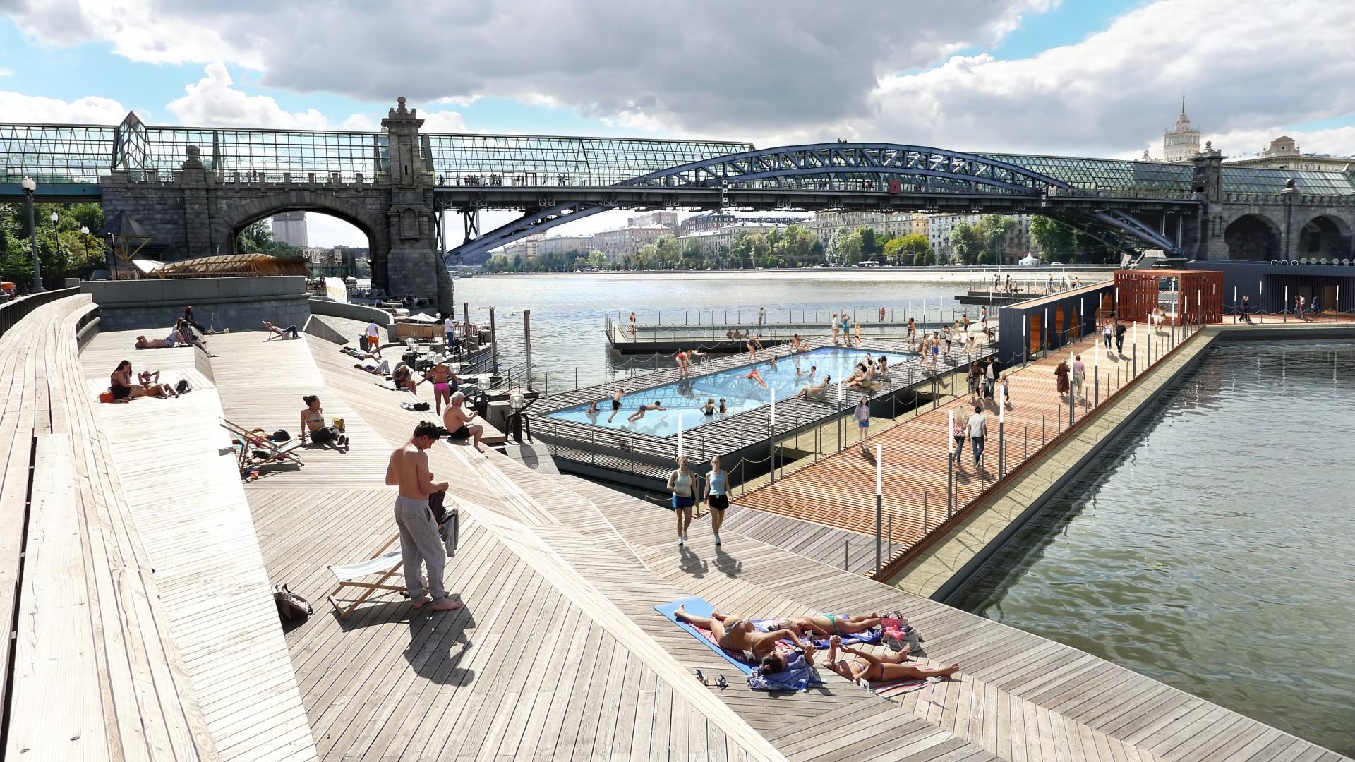 Suprematystyczny basen, źródło:  http://100architects.com