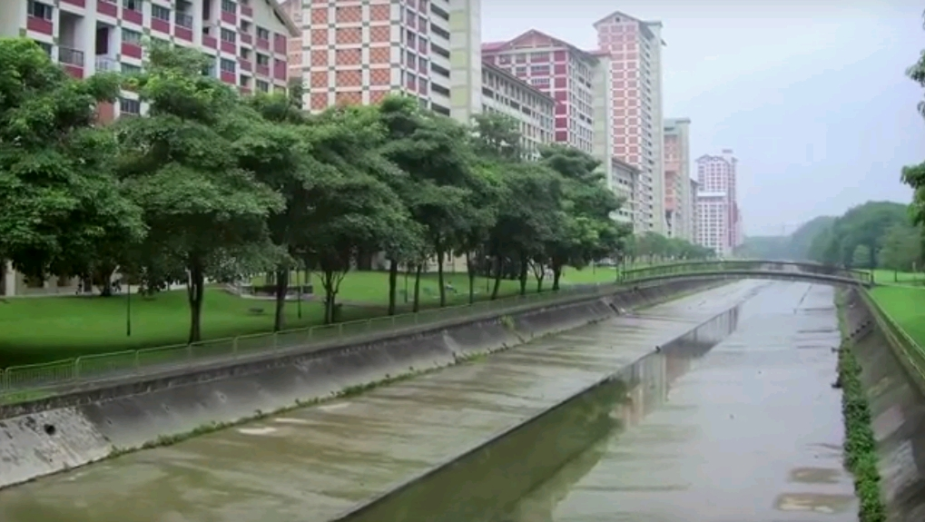 Bishan Park przez rewitalizacją