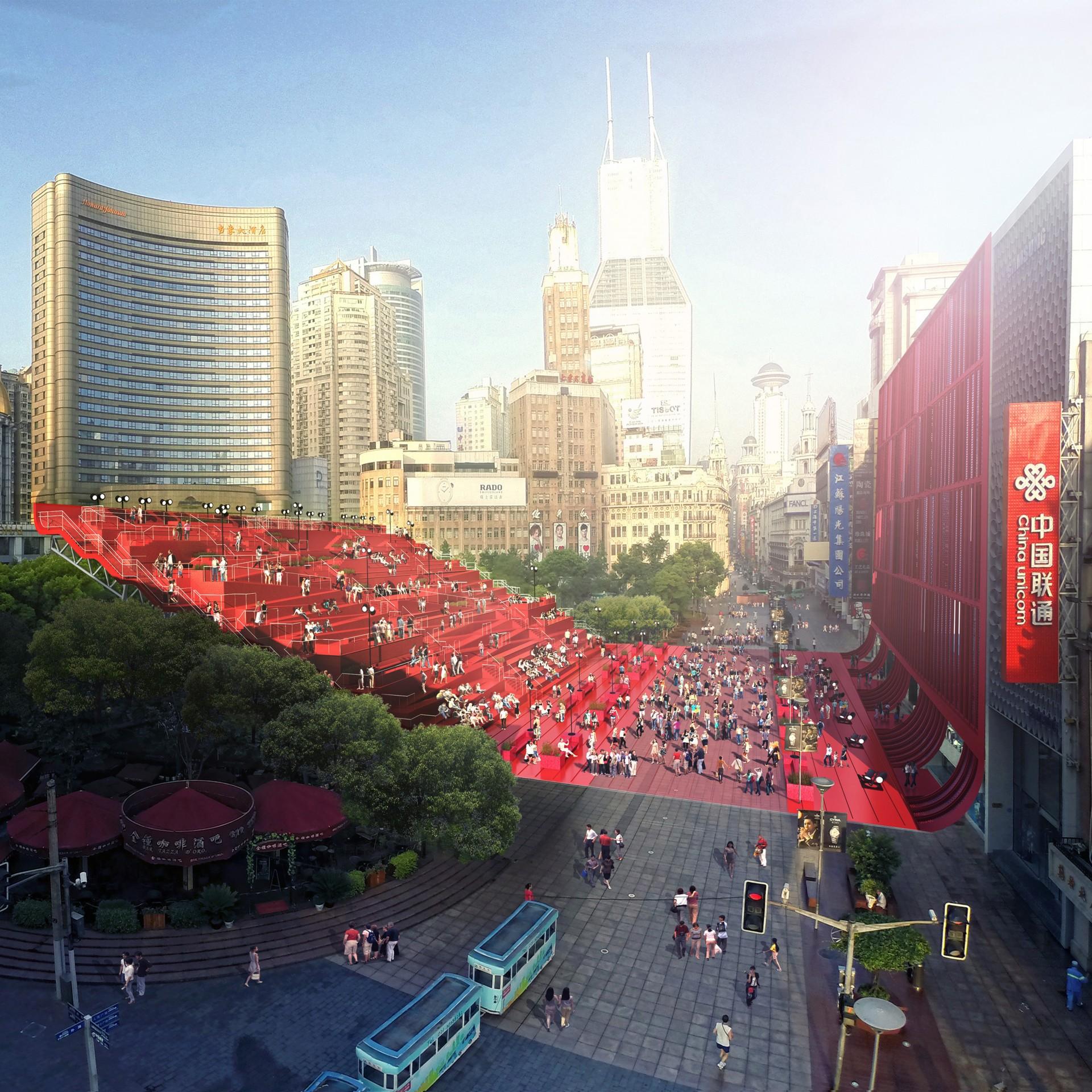 """Amfiteatr """"Czerwony dywan"""", źródło: http://100architects.com"""