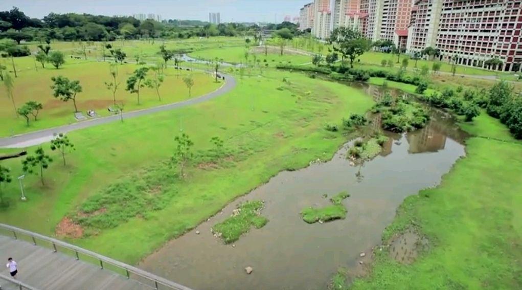 Bishan Park po rewitalizacji