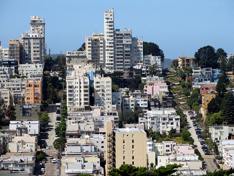 Russian Hill, San Francisco, fot. Bernard Gagnon CC BY-SA 3.0 via Wikimedia Commons