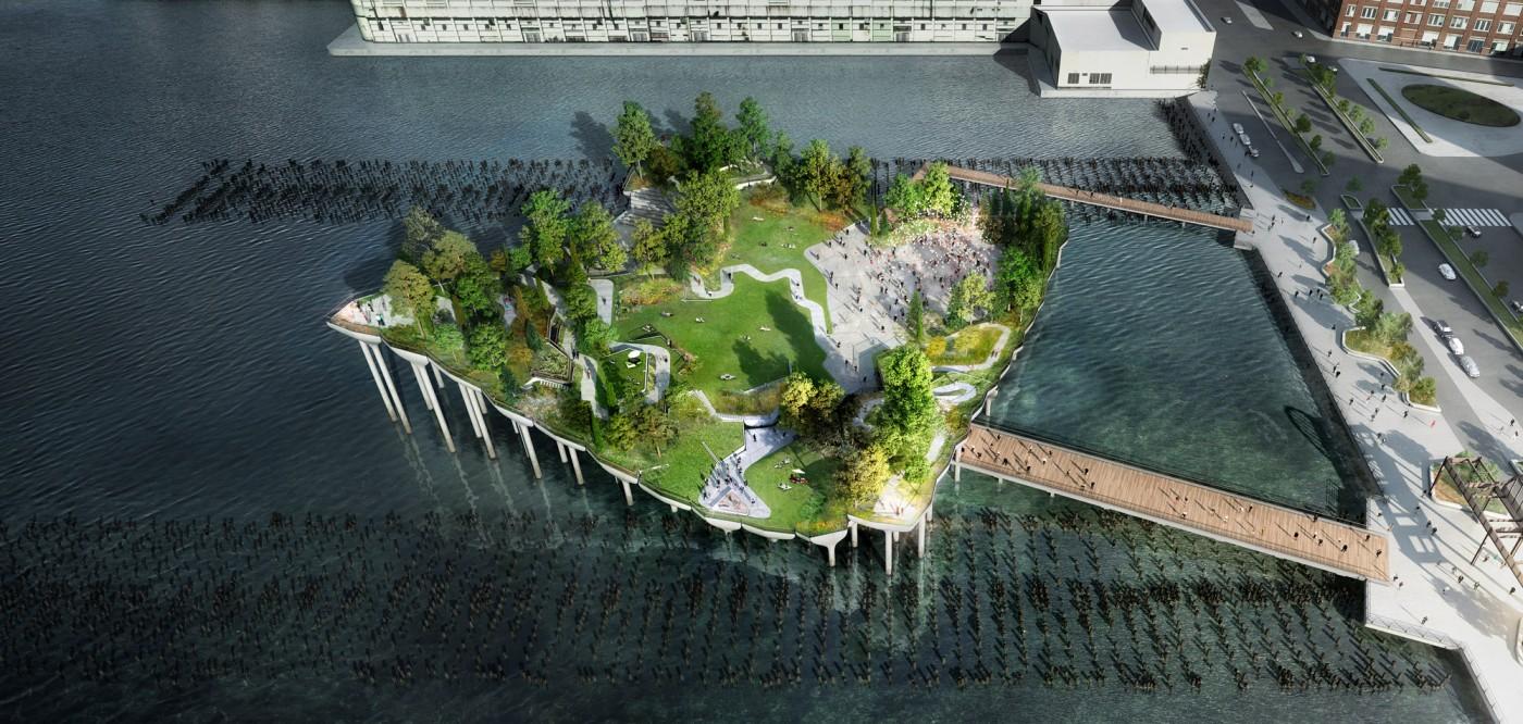 Pier 55, Nowy Jork, proj. Heatherwick Studio, źródło: www.heatherwick.com