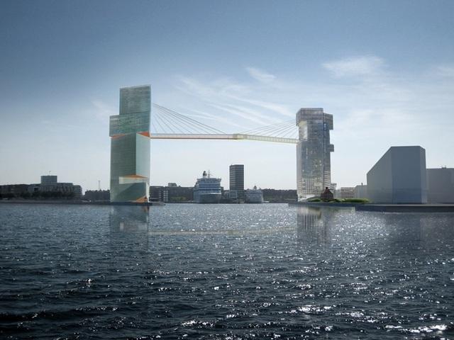 Copenhagen Gate, proj. Steven Holl, źródło: www.stevenholl.com